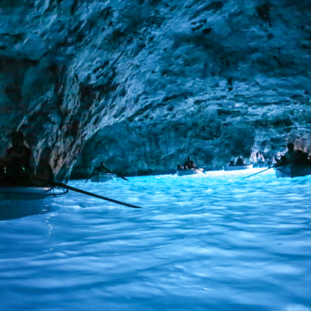 """Board a traditional """"luzzu"""" and enter our cave network at Blue Grotto."""