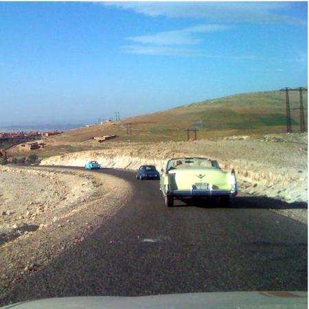Road trips around the Atlas Mountains aboard vintage cars: Ferrari 250, Mercedes 300 SL, or Rolls Royce Phantom of 1925