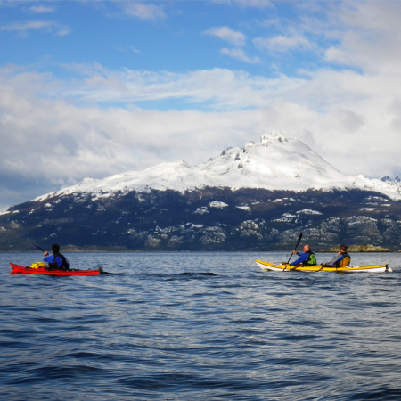 Kayaking on the Beagle Channel in Ushuaia