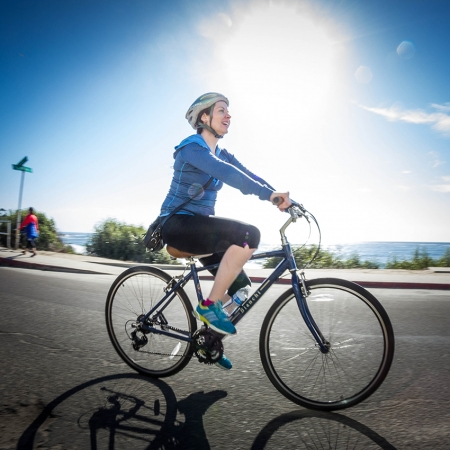 Biking the scenic coastline is a great way to experience OC culture.