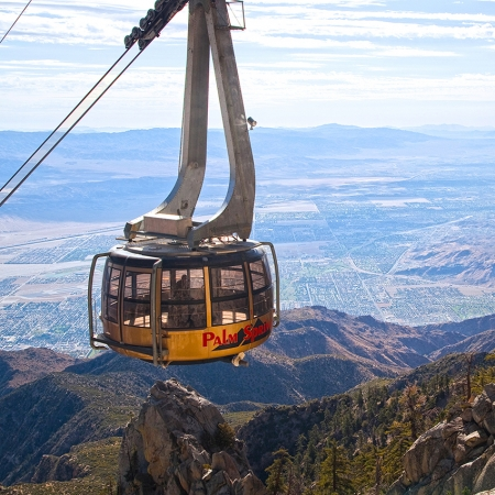 The Palm Springs Aerial Tram offers sweeping views that are on everyone's must see list.