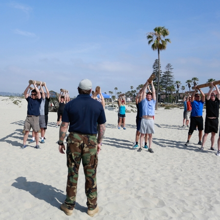 Boot Camp with Navy Seals is a unique teambuilding option.