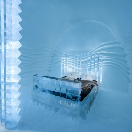 ICEHOTEL – the original and the world's first hotel made of ice and snow. Founded in 1989, it is reborn in a new guise every winter, in the Swedish village of Jukkasjärvi, 200 km north of the Arctic Circle. The Torne River, the arts, and creating a setting for life-enriching moments are at the heart of it all.