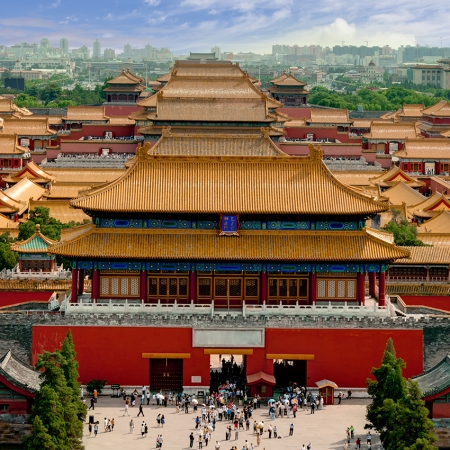 A classic tour of Beijing, including Tiananmen Square and The Forbidden City, before dining at Beijing's premiere Peking duck restaurant, Duck de Chine.