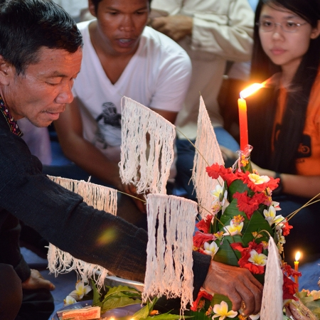 Take part in a traditional baci ceremony, an ancient spiritual Laos ritual.