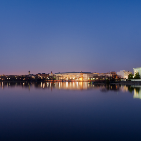 Tour Washington, DC's landmarks, memorials and monuments; most majestic at night!