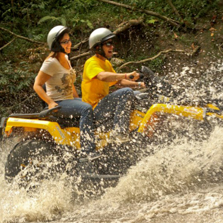 ATV Tour: Ultimate adventure, adrenaline rush like none other! Ride along the rainforest outlined tracks through our farmland.