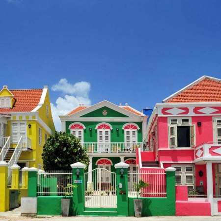 Cultural and Historical Walking Tour of Willemstad, consists of several distinct historic districts, reflecting different eras of colonial town planning and development.