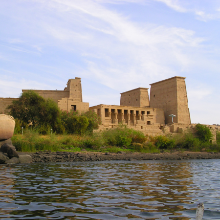 The temple of Philae in Aswan