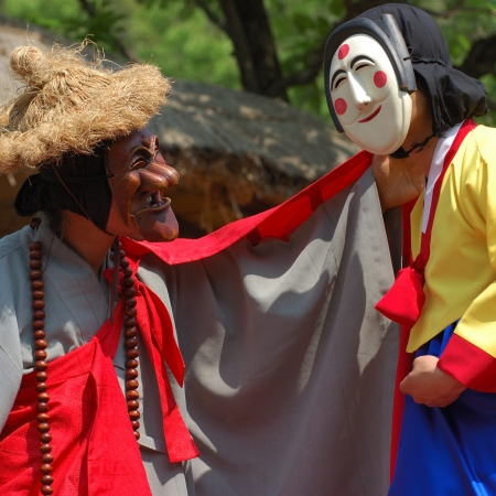 Watch a Hahoe Mask Dance Performance in Hahoe Village (UNESCO World Heritage) in Andong.