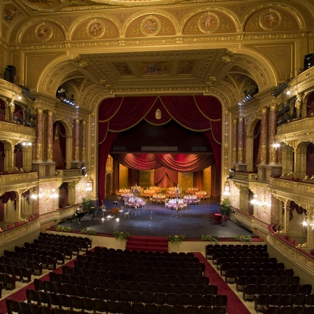 Elegant functions on stage of the opera house
