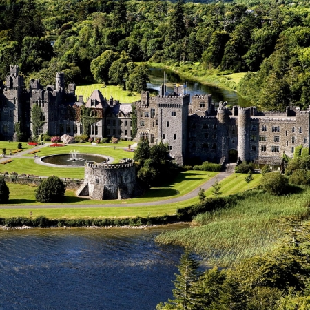 Stay in Ashford Castle, voted on the top 30 hotels in the world (only 1 hour from Galway city)