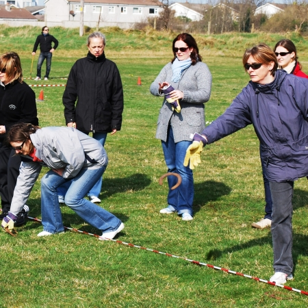 Take part in old Irish games (horseshoe, wellie boot throwing and many more) in Blessington Lakes
