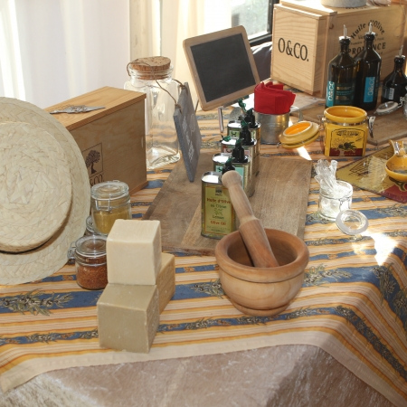 Try all our Provencal products: olive oil, tapenade, Pastis, and wine. They are all delicious!