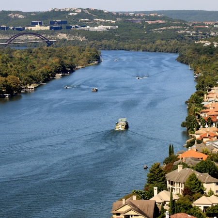 Rising 775 feet above sea level, Mt. Bonnell is a popular spot for marriage proposals.