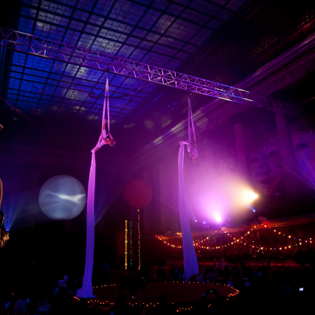 Private circus show at the Museum of Ethnography.