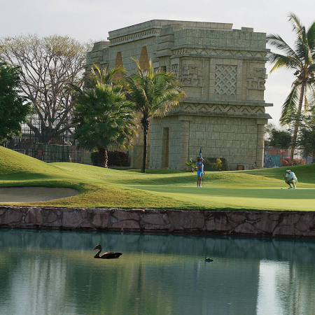 """Championship Golf courses: If you are """"mad about golf"""" you came to the right place. In Puerto Vallarta and Riviera Nayarit, there are a total of 9 golf courses of the highest standards. You can play by the ocean, in the mountains, or with the jungle around you and crocodiles in the lakes!"""