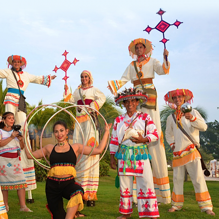 The Huichols, natives whose beaded arts and crafts provide Mexico visitors with treasures that often accompany them home, your will find them along Banderas Bay sharing their arts and crafts.