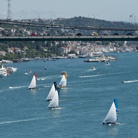 Sailing regatta along the Bosphorus