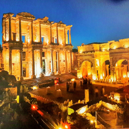Themed event in Celsus Library, Ephesus