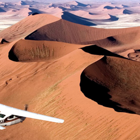 Take private chartered planes for unsurpassed views of The Skeleton Coast