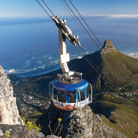 Take the cable car up to Table Mountain to enjoy sundowners & glorious sunsets