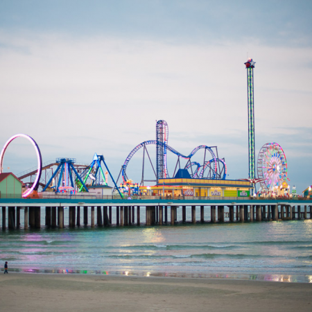 Galveston Island – only a one hour's ride and whole days of beach fun.