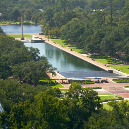 Hermann Park – In a city known for its park landscape, this one stands out as serene and beautiful.
