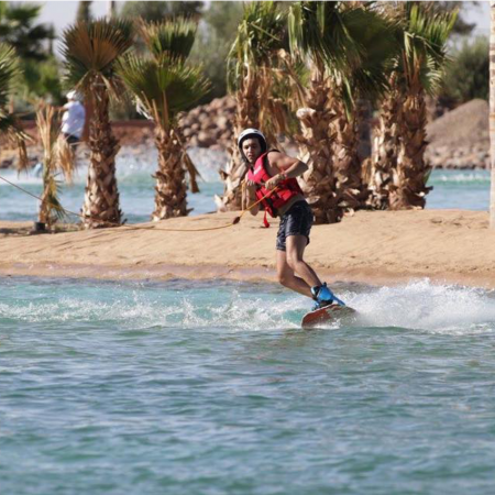 Cable Ski in Marrakech is a great setup designed for a lot of fun. Available for mono ski and wake boarders. Group friendly!