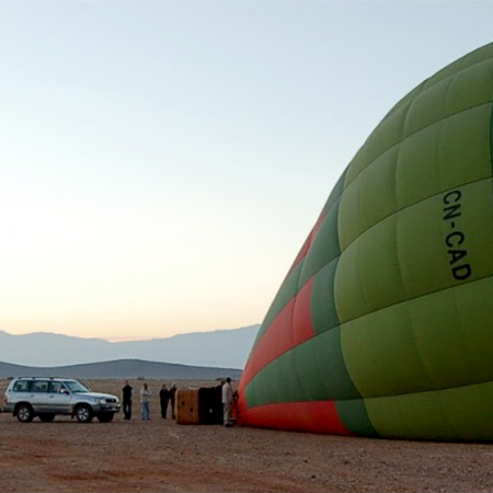 Hot air ballooning for a desert trip
