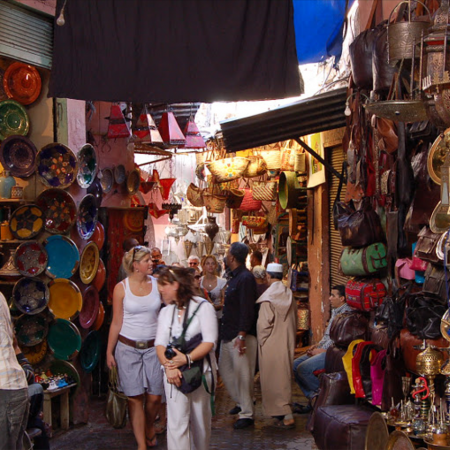 Explore and restore: Deep immersion in the souks (marketplace) with a personal shopper