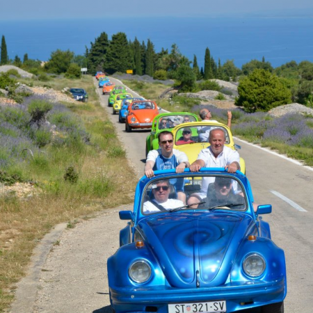 Drive a Beetle along lavender scented roads of Hvar