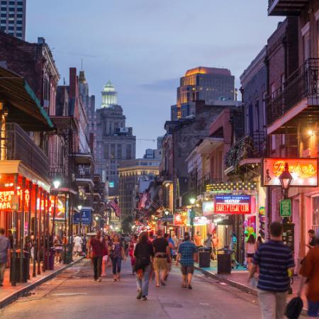 Enjoy a Big Easy stroll down Bourbon Street