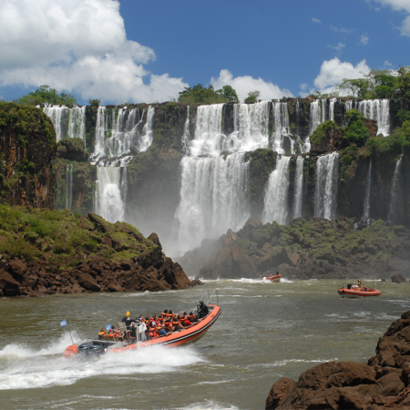 Great adventure experience in magnificent Iguazu Falls