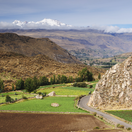 Colca Canyon, the deepest in the world.