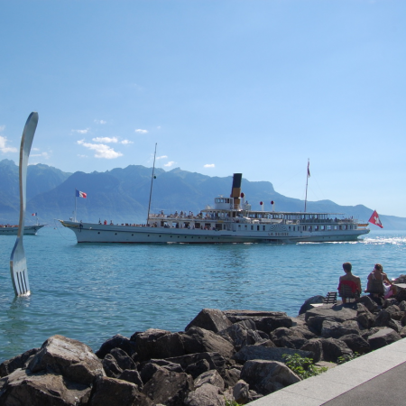 All kinds of water activities on the Swiss lakes