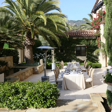 An event at a private estate, gives a glimpse into the celebrity lifestyle of Montecito.