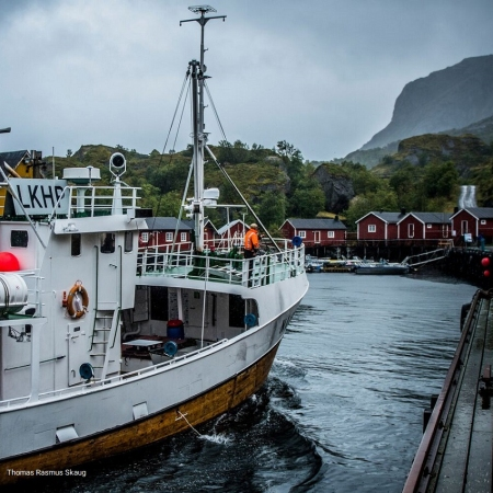 Get the chance to chat with one of the local fishermen in Lofoten - nothing beats the charm of a typical old fisher village.