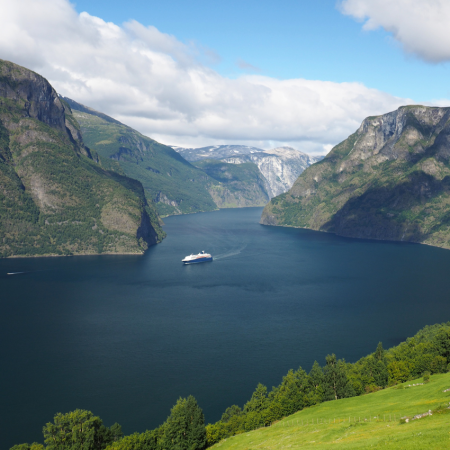 The Norway in a nutshell trip takes you through some of Norway's most beautiful fjord scenery. You will experience the scenic Bergen Railway, the breathtaking Flåm Railway, the Aurlandsfjord, the narrow and dramatic UNESCO-protected Nærøyfjord and the steep hairpin bends of Stalheimskleiva (May-September). The trip is available as a day tour or as a tour with overnight stays en route. You can start the tour in Oslo, Bergen, Voss or Flam, no matter the season, in winter, spring, summer or fall.