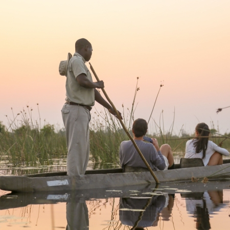 Paddle in a Mokoro through the Delta