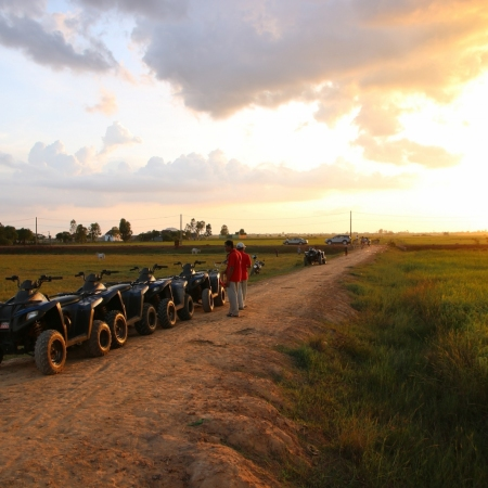 Discover the Cambodian countryside and rarely visited rural villages surrounding Siem Reap from the back of an ATV quad bike.