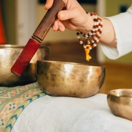 Experience the relaxing and healing powers of the singing bowls during a meditation and sound therapy experience.