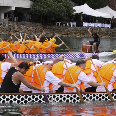 Feel the exhilarating action of a traditional dragon boat race as your teams go head-to-head on the open water.