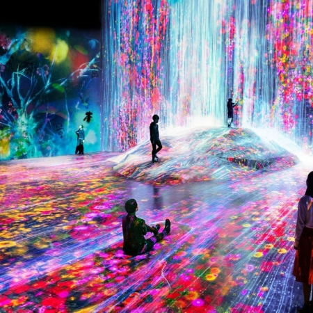 Immerse yourself in the interactive and evolving Mori Digital Art Museum by teamLab Borderless.