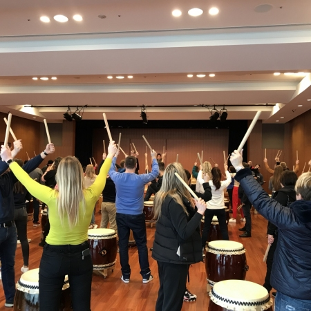 Learn how to play the taiko drums as well as a traditional song to play as a group; it's loud, it's powerful and it's super fun!