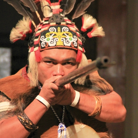 Destination Asia transports clients back to the head hunting era, dressed in the ancient styles of this time.
