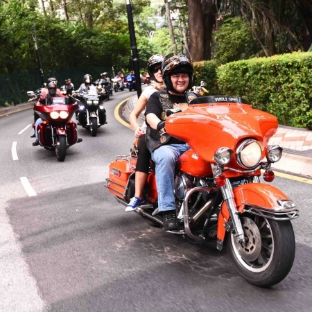 Explore the bright lights of Kuala Lumpur and its magnificent heritage architecture while riding pillion on a roaring Harley Davidson.
