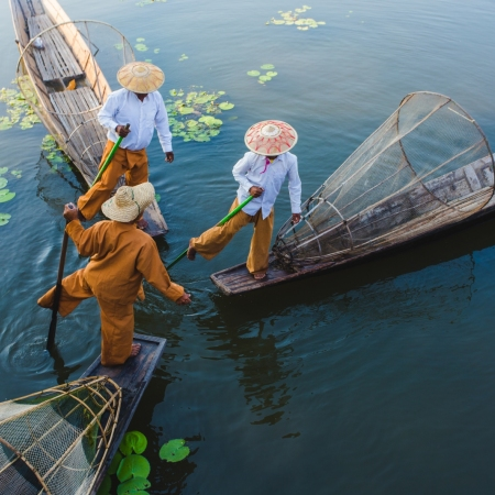 Pay a visit to the local five-day market which rotates between towns spread throughout the Inle Lake region.