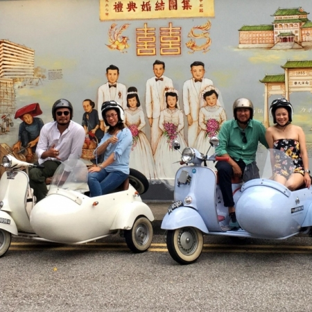 Experience Singapore's sights, sounds, and flavours up close and personal as a unique fleet of hand restored Vespas takes you off the beaten track.