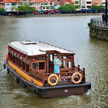 Explore Singapore's historic waterways on a traditional bumboat.